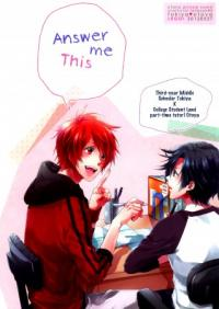 Uta no☆Prince-sama♪ - Answer Me This (Doujinshi)