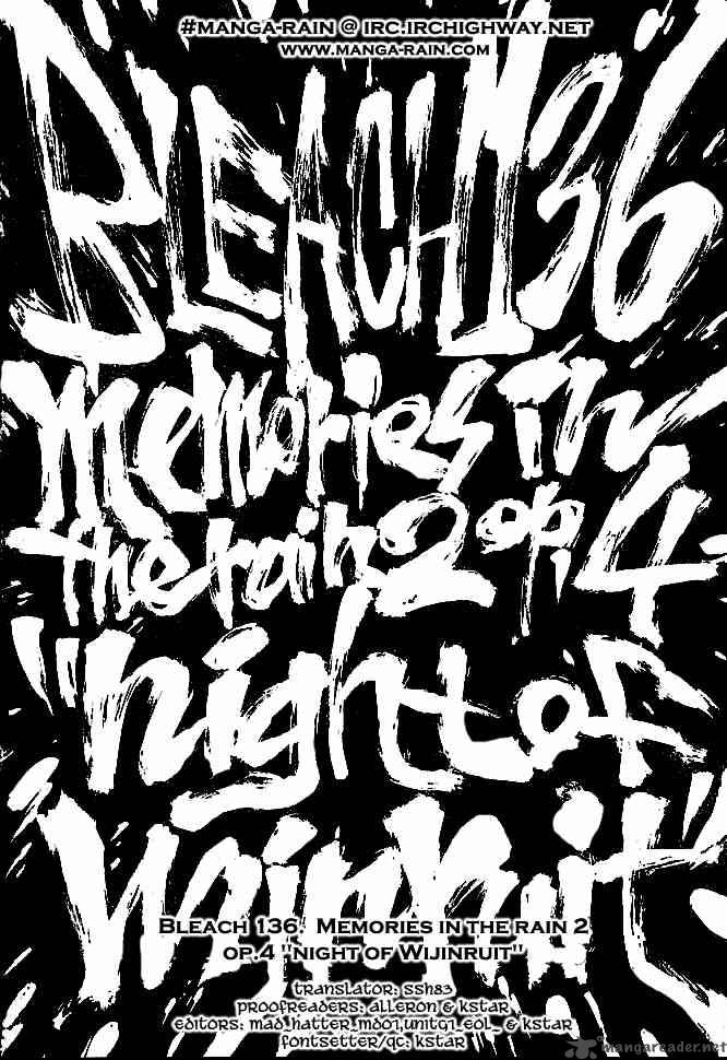 Bleach 136 Memories in the Rain 2 Op.4 Night of Wi